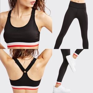 Splits59 Athletic Sports Bra & Legging Set Gym SzM